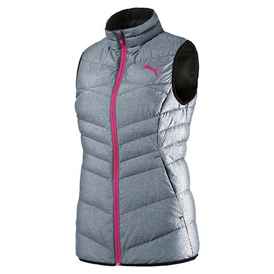 Жилет ACTIVE 600 PackLITE Down Vest WКуртки, жилеты<br>Жилет ACTIVE 600 PackLITE Down Vest W<br>Создан для любительниц активного образа жизни, которые не привыкли тратить время впустую. Одежда линии ACTIVE предназначена для повседневной носки и отличается привлекательным дизайном, при этом элементы конструкции, унаследованные от моделей для активного отдыха, делают этот жилет абсолютно функциональным. Этот пуховый жилет отлично согревает, имеет удобные боковые карманы и (маленький бонус!) складывается в собственный карман.<br><br>Коллекция: Осень-зима 2016<br>Состав: 100% нейлон; водонепроницаемое покрытие. Наполнитель : 90% пух (утиный, некрашеный), 10% перо (некрашеное)<br>Технологии: warmCELL сохранит комфортную температуру тела даже в холодную погоду<br>Застежка-молния по всей длине с клапаном для защиты подбородка<br>Боковые карманы<br>Компактная конструкция: Упаковывается в свой собственный левый карман<br>Прилегающий крой<br>Справа на груди фирменный логотип PUMA<br>Страна-производитель: Китай<br><br><br>size RU: 46-48<br>gender: Female