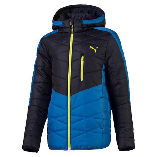 Куртка ACTIVE Norway Jacket bОдежда<br>Куртка ACTIVE Norway Jacket b<br>Для детей, которые всегда в движении. Одежда линии ACTIVE создана для повседневной носки и отличается привлекательным дизайном, при этом элементы конструкции, унаследованные от моделей для активного отдыха, делают этот жилет абсолютно функциональным. Наглядный пример: эта куртка. Теплая конструкция с набивкой, светоотражающая отделка и работа мастеров. Комфортное ощущение, яркий стиль и готовность к постоянному движению.<br><br>Коллекция: Осень-зима 2016<br>Состав:100% полиэстер; водонепроницаемое покрытие<br>Капюшон<br>Полноразмерная молния с клапаном для защиты подбородка от язычка молнии<br>Два боковых кармана<br>Боковые вставки контрастного цвета<br>Светоотражающая отделка для лучшей видимости<br>Логотип PUMA на груди слева<br>Страна-производитель: Великобритания, Виргинские острова<br><br><br>size RU: 140<br>gender: Boys