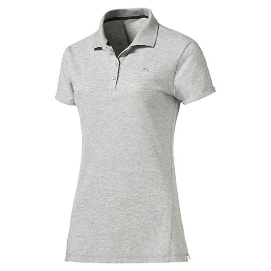 プーマ CD ポロシャツ ウィメンズ light gray heather【レディースウエア  ポロシャツ】PUMA プーマ【サイズ M/グレー】ウィメンズ~~アパレル~~ポロシャツ