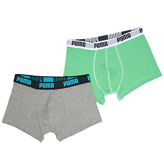 Мужское нижнее белье 2 Pack Boxer ShortsНижнее белье и носки<br>Мужское нижнее белье 2 Pack Boxer Shorts:2 штуки в упаковке (разных цветов)Посадка по фигуреИдеальное сочетание материалов - хлопка и спандекса, - которые обладают дышащими свойствами и эластичностьюЭластичная резинка на поясе с надписью PUMA контрастного цвета.<br><br>color: зеленый<br>size RU: 44-46<br>gender: Male