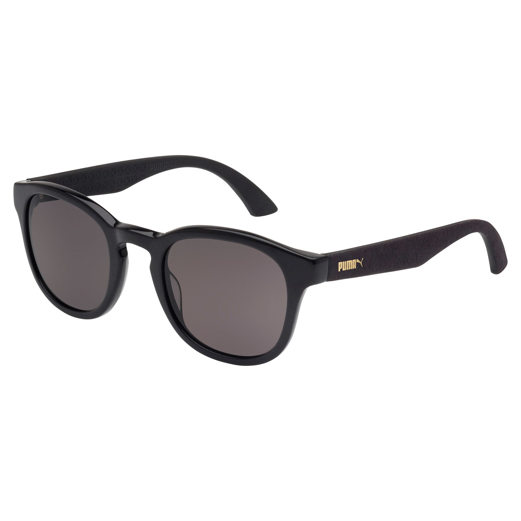 Artikel klicken und genauer betrachten! - Suede Sonnenbrille: Diese Sonnenbrille von PUMA Eyewear ist von unserem berühmtesten Sneaker inspiriert: dem PUMA Suede, der durch den Wandel der Zeit hindurch immer er selbst und ein wahrer Klassiker geblieben ist. Vintage-Fassung mit Alcantara®-Bügeln für den unverkennbaren PUMA-Look. Gläser aus Polykarbonat. Jede Sonnenbrille kommt in einer einzigartigen Box, die unseren Schuhkartons nachempfunden ist. | im Online Shop kaufen