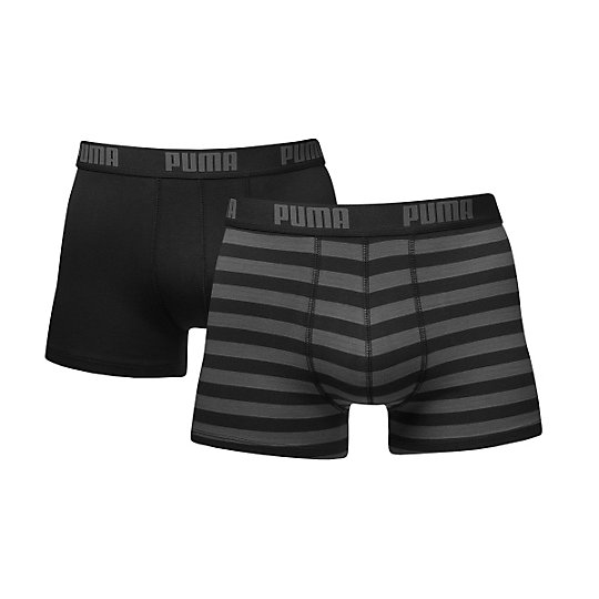 Мужское нижнее белье Stripe 1515 Boxer Shorts 2 PackНижнее белье и носки<br>Мужское нижнее белье Boxer Shorts 2 PackЭти прекрасные трусы-боксеры от PUMA одновременно комфортны и спортивны.Комплект состоит из 2 шт., позволяет выбирать дизайн по настроениюSlim fit обеспечивает идеальную посадкуМягкие, дышащие и эластичные материалыМатериал: 95% хлопок, 5% эластан<br><br>color: черный<br>size RU: 46-48<br>gender: Male