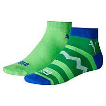 Lot de deux paires de chaussettes Zig Zag Quarter pour enfant