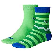 Lot de deux paires de chaussettes Zig Zag Crew pour enfant