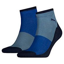 Lot de 2 paires de chaussettes blocs de couleurs trois quart pour homme