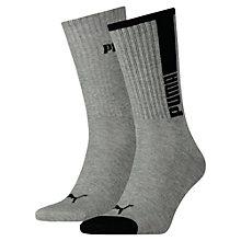 Men's Vertical Stripe Crew Socks 2P