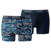 Men�s Camo Print Boxer Shorts 2 Pack
