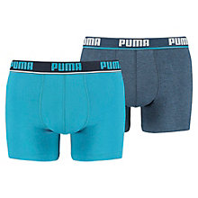Men's New Waistband Basic Boxer Shorts 2 Pack
