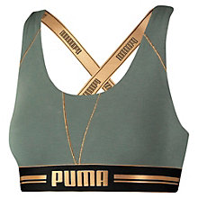 Women's Gold Logo Crossback Bra