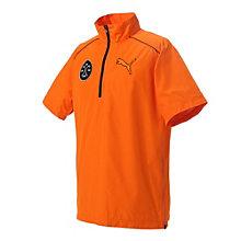 ゴルフ 半袖 ハーフジップ ウインドジャケット