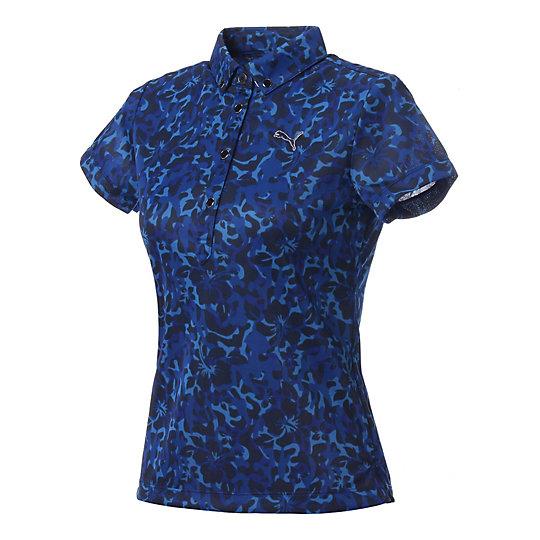 プーマ ゴルフ W SS BD ポロシャツ ウィメンズ peacoat【レディースウエア  ポロシャツ】PUMA プーマ【サイズ S,M/ブルー】ウィメンズ~~アパレル~~ポロシャツ