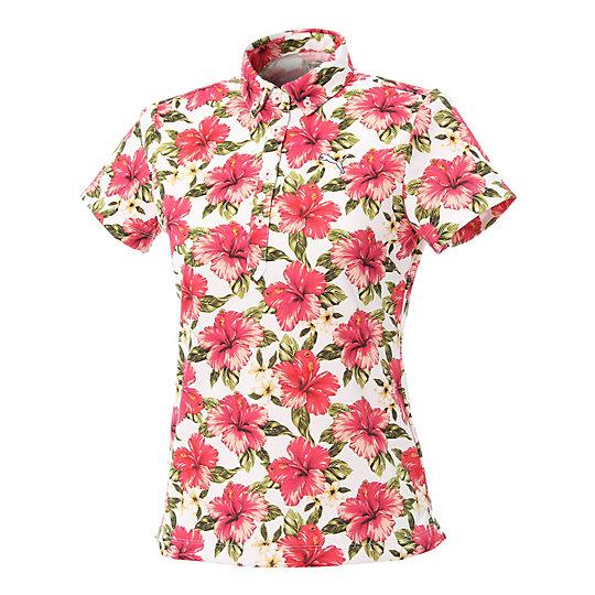 プーマ ゴルフ W SS ポロシャツ ウィメンズ rose red【レディースウエア  ポロシャツ】PUMA プーマ【サイズ S,M/レッド】ウィメンズ~~アパレル~~ポロシャツ