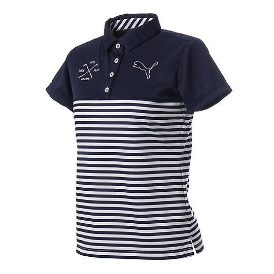 プーマ ゴルフ W SS ポロシャツ ウィメンズ peacoat【レディースウエア  ポロシャツ】PUMA プーマ【サイズ S,M/ブルー】ウィメンズ~~アパレル~~ポロシャツ