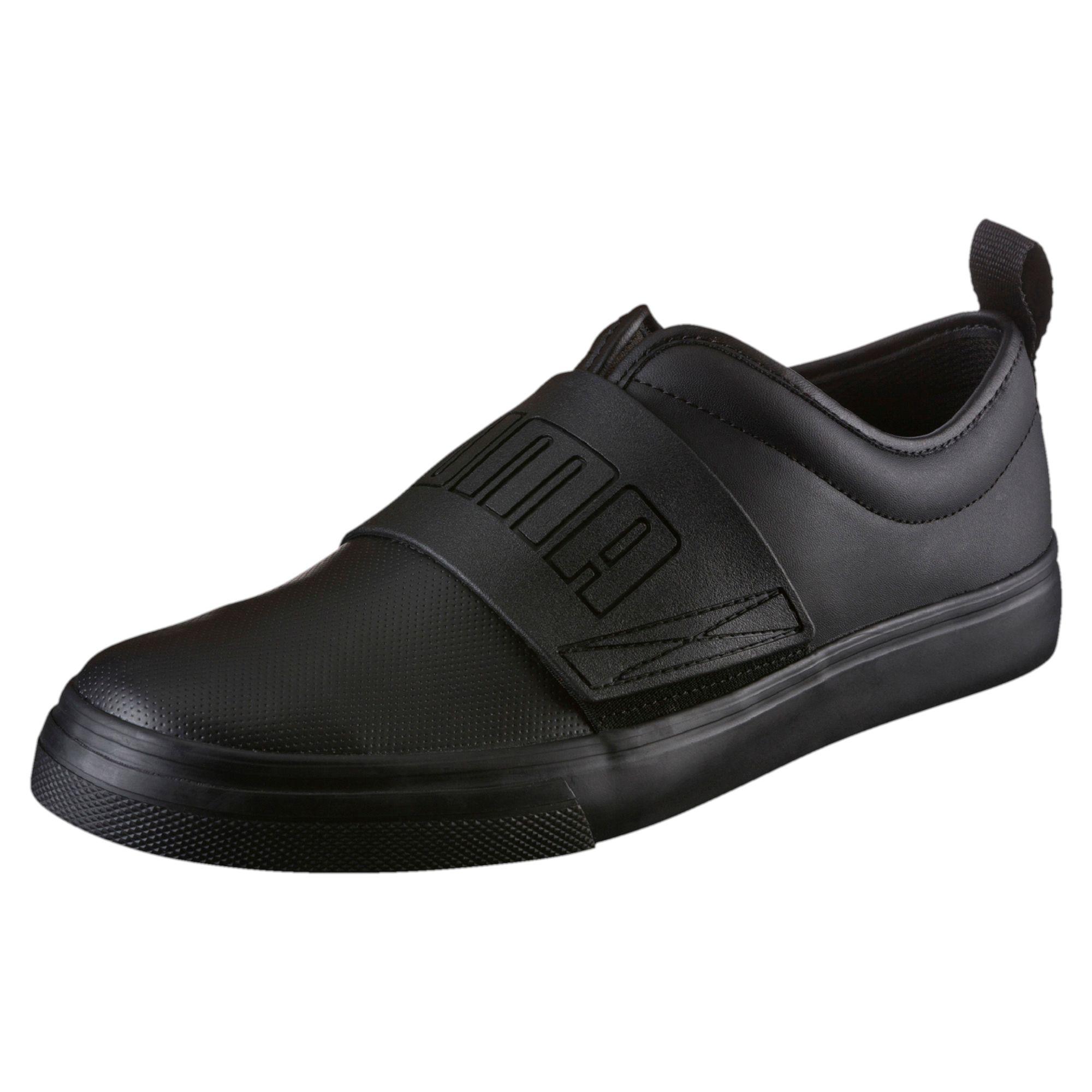 PUMA El Rey Fun 362370 02 Mens Sneakers Trainers Nero Pelle Taglia 43 NUOVO
