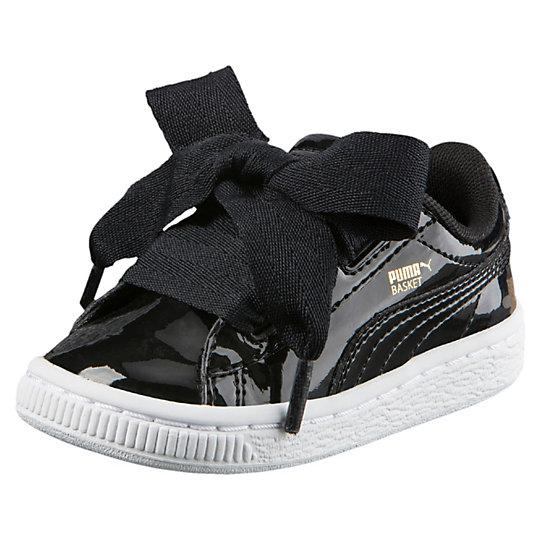 online retailer c351c a8b05 ShopandBox - Buy Puma Basket Heart Patent Kids Sneakers from US