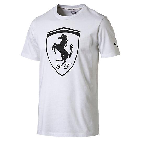 プーマ FERRARI LS ビッグシールド SS Tシャツ メンズ Puma White